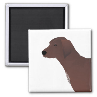 Redbone Coonhound Basic Breed Customizable Design 2 Inch Square Magnet