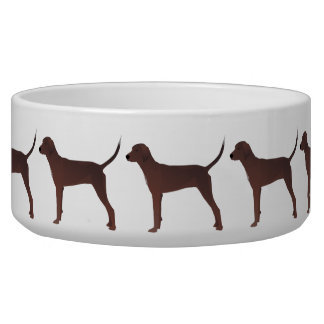 Redbone Coonhound Basic Breed Customizable Design Bowl