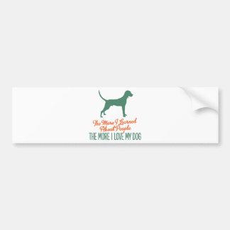 Redbone Coonhound Car Bumper Sticker