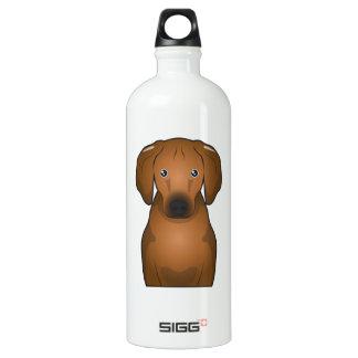 Redbone Coonhound Cartoon Aluminum Water Bottle