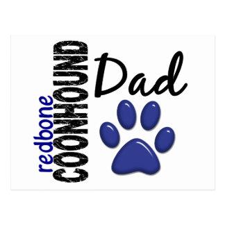 Redbone Coonhound Dad 2 Postcard