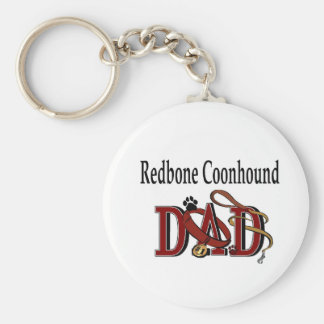Redbone Coonhound Dad Gifts Keychain