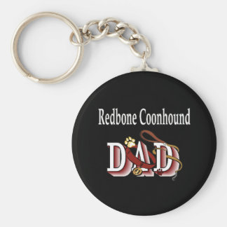 redbone coonhound dad Keychain