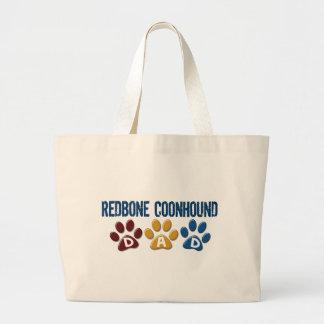 REDBONE COONHOUND Dad Paw Print 1 Tote Bags