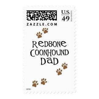 Redbone Coonhound Dad Postage