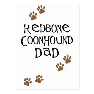 Redbone Coonhound Dad Postcard