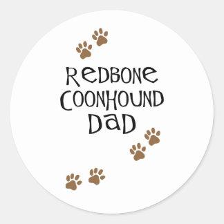 Redbone Coonhound Dad Round Stickers