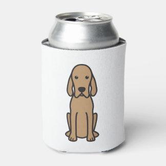 Redbone Coonhound Dog Cartoon Can Cooler