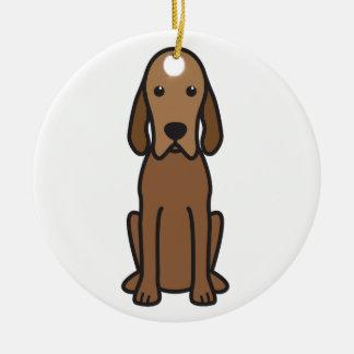 Redbone Coonhound Dog Cartoon Ceramic Ornament