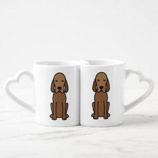 Redbone Coonhound Dog Cartoon Coffee Mug Set