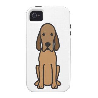 Redbone Coonhound Dog Cartoon iPhone 4/4S Cases