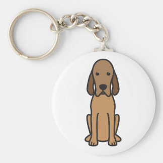 Redbone Coonhound Dog Cartoon Keychain