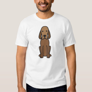 Redbone Coonhound Dog Cartoon T-Shirt