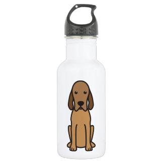 Redbone Coonhound Dog Cartoon Water Bottle