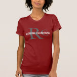 Redbone Coonhound/Dog Lovers Initials Shirt