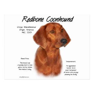 Redbone Coonhound History Design Post Cards