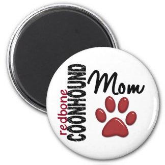 Redbone Coonhound Mom 2 2 Inch Round Magnet
