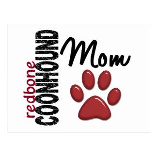 Redbone Coonhound Mom 2 Postcard