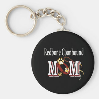 Redbone Coonhound MOM Gifts Keychain