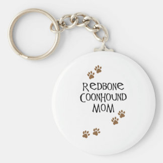 Redbone Coonhound Mom Keychain