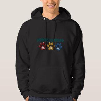 REDBONE COONHOUND Mom Paw Print 1 Hooded Sweatshirt
