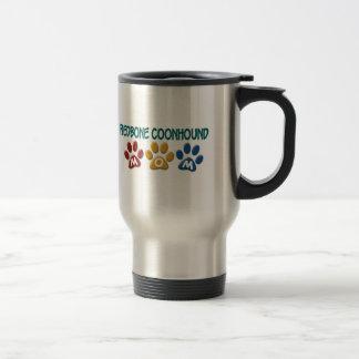 REDBONE COONHOUND Mom Paw Print 1 Travel Mug