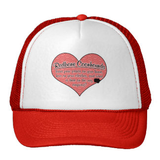 Redbone Coonhound Paw Prints Dog Humor Trucker Hat