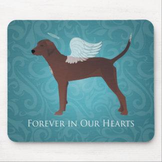 Redbone Coonhound Pet Memorial Angel Dog Mouse Pad