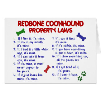 REDBONE COONHOUND Property Laws 2 Greeting Card