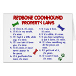 REDBONE COONHOUND Property Laws 2 Cards