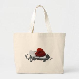 RedBrokenHeartGurney092715.png Large Tote Bag
