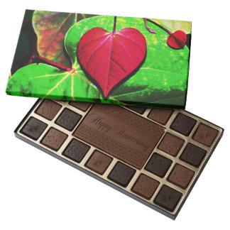 Redbud Heart Leaf 45 Piece Box Of Chocolates