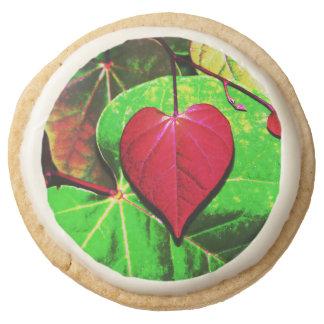 Redbud Heart Leaf Round Shortbread Cookie