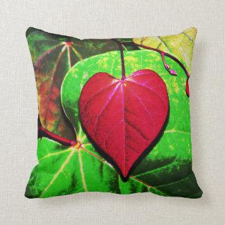 Redbud Heart Leaf Throw Pillow