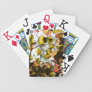 Redbud Leaves lit by the Sun Bicycle Playing Cards