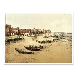 Redcar, the esplanade, Yorkshire, England rare Pho Postcard