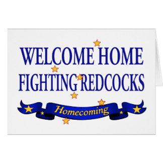 Redcocks que lucha casero agradable tarjeta de felicitación