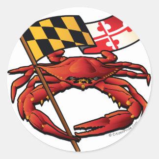 RedCrab_MD_banner.ai Classic Round Sticker