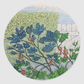 Redcurrant Berries Classic Round Sticker