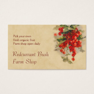 Redcurrant fruit sales business card