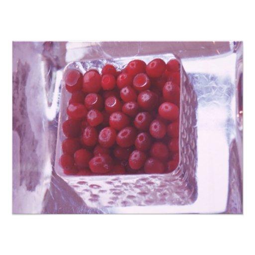 Redcurrants in ice photo art