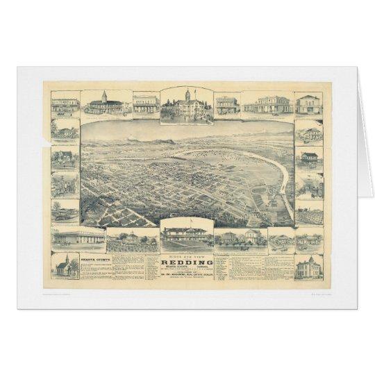 Redding, CA. Panoramic Map (1393A) Card