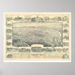 Redding, CA. Panoramic Map (1393A) Poster