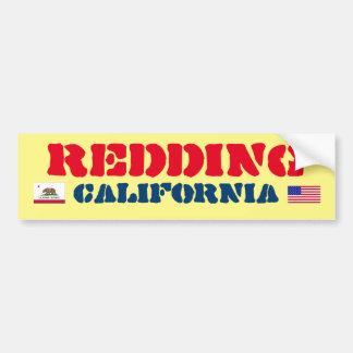 Redding California Bumper Sticker
