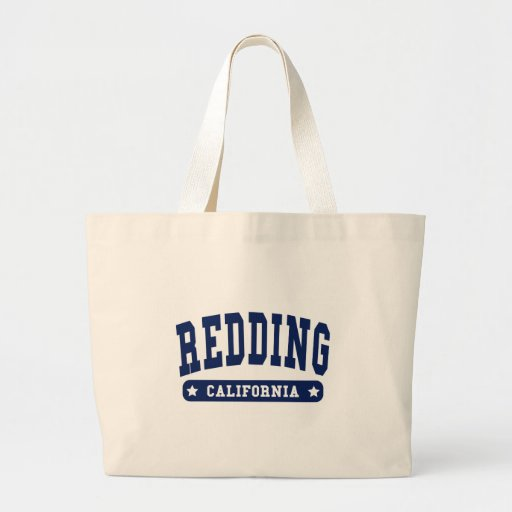 Redding California College Style tee shirts Canvas Bags
