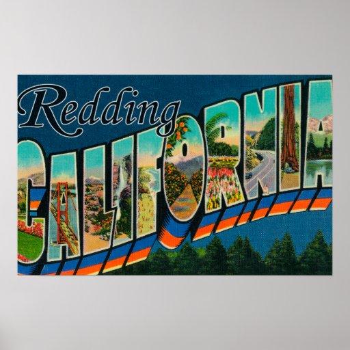 Redding, California - Large Letter Scenes Poster