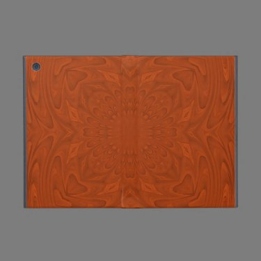 Reddish abstract wood pattern cover for iPad mini