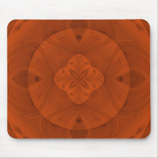 Reddish abstract wood pattern mouse pad