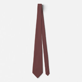 Reddish Brown Double Sided Solid Color Tie
