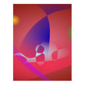 Reddish-Brown Simple Abstract Art 2 Postcard